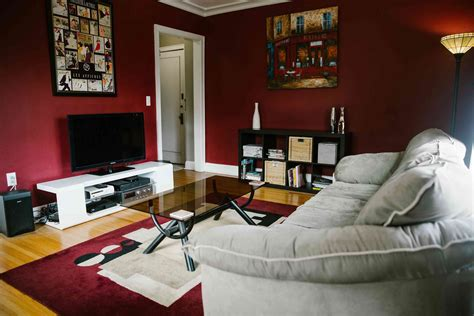 living room furnished uptown condo