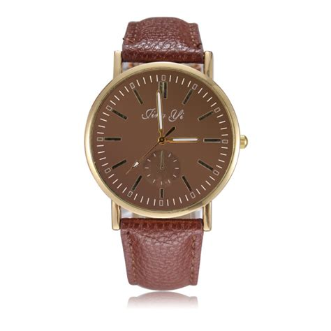 watches brand name fashion pu leather watches