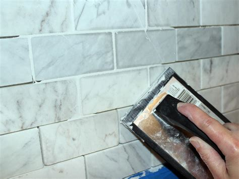 best grout for kitchen backsplash how to install a marble tile backsplash hgtv
