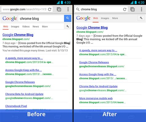 chrome browser for android chrome 27 for android fullscreen on phones tab history on tablets