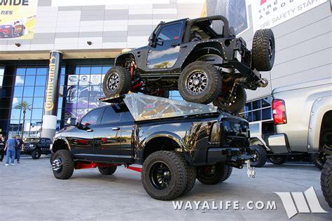 jeep truck 2 door 2015 sema black smp fabworks jeep jk wrangler 2 door piggy