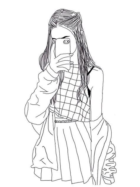 Galerry coloring pages tumblr girl