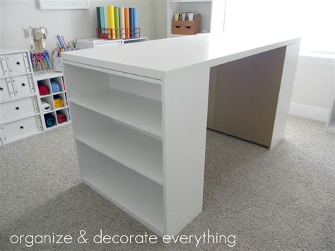 diy craft desk with storage make your own diy craft table using inexpensive pieces