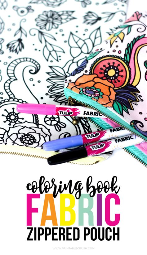 coloring book tutorial coloring book fabric zippered pouch tutorial printable crush
