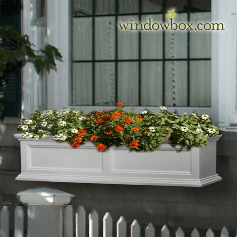 white vinyl window boxes prestige window box white vinyl window boxes window