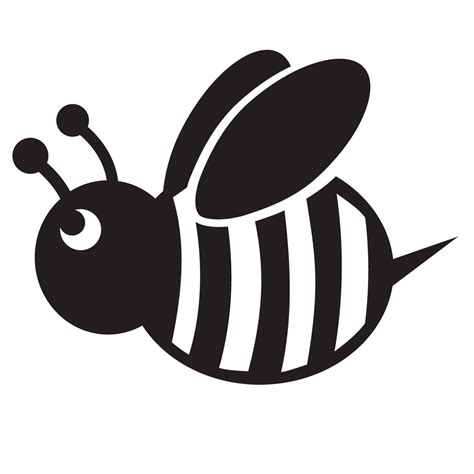 Bumble bee stencil for glitter quartermarks for horses