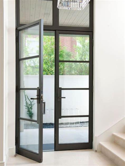 Steel Front Entry Doors With Glass Steel Glass Doors Houzz