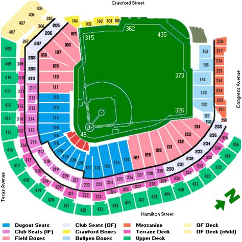 astros seating chart seating houston astros tickets