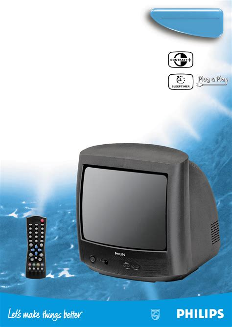 Philips Crt Television 14pt1324 User Guide Manualsonline Com