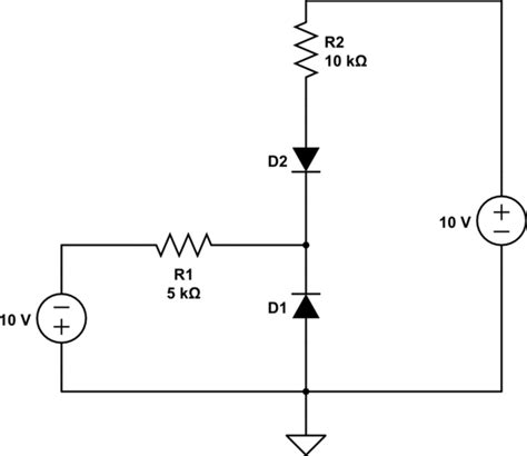 what is diode operation which diode is conducting and what are the operation points of the conducting diode