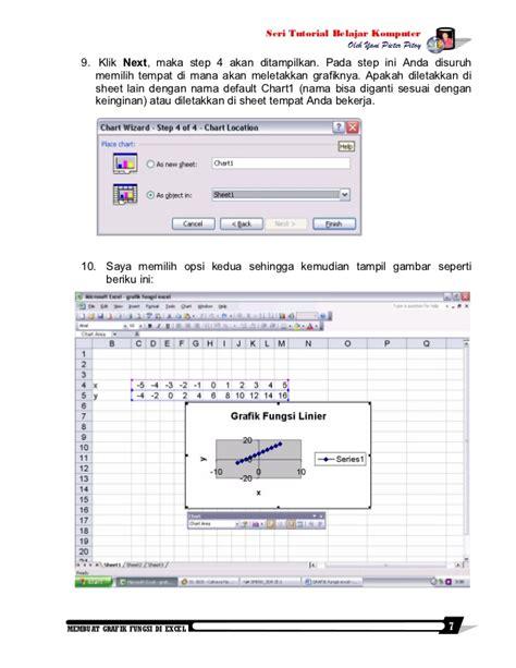 membuat grafik fungsi kuadrat di excel membuat grafik fungsi di excel