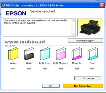 t50 reset counter resetting epson t60 t50 service required mahira