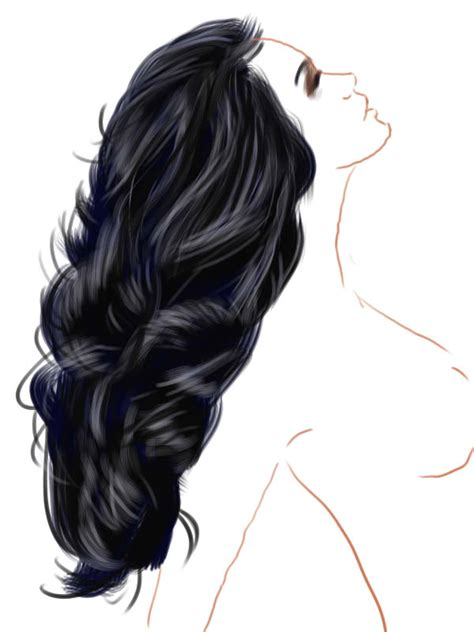 paint tool sai black hair tutorial hair practice in painttool sai 003 by kwikdraw on