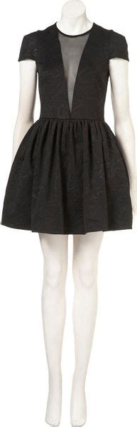 Emboss Dress Bodycon By Topshop topshop embossed skater dress in black lyst