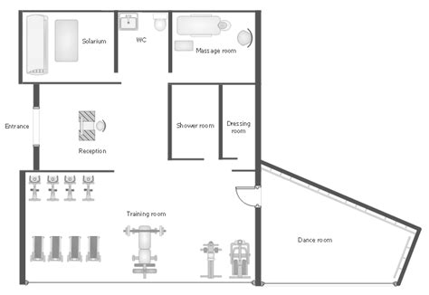 salon office layout gym equipment layout floor plan gym and spa area plans