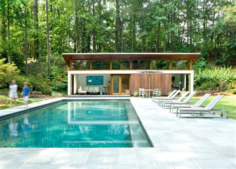 house plans with pool house guest house nancy creek guesthouse and pool modern pool atlanta