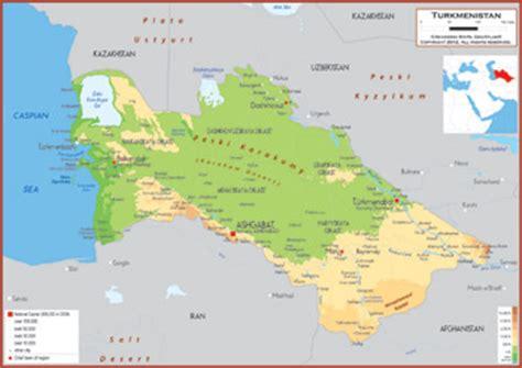 physical map of turkmenistan turkmenistan physik karte