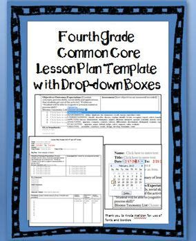 4th Grade Lesson Plan Template by 4th Grade Common Lesso By Germain Teachers