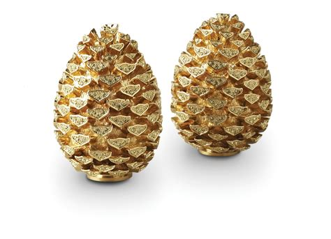 l objet pinecone gold yellow crystals 187 jewelers gifts