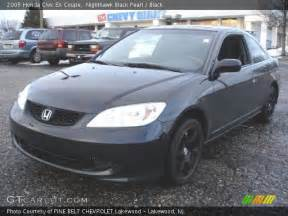 nighthawk black pearl 2005 honda civic ex coupe black