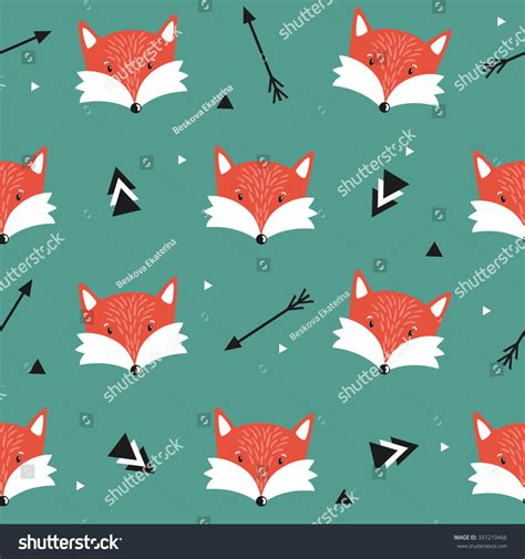 pattern html special characters vector seamless pattern with cute foxes arrows and