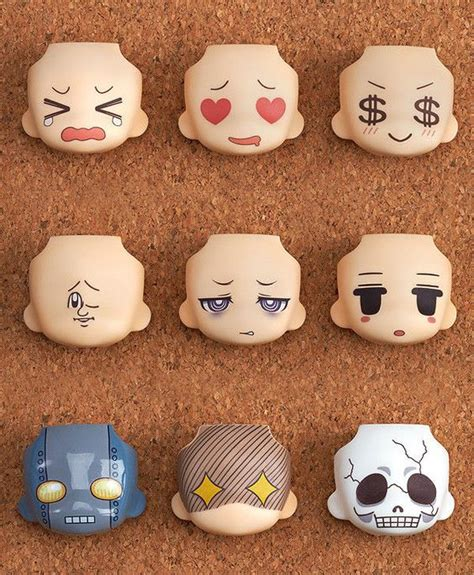 Nendoroid Faceplate 542 B swaps anime and smile on