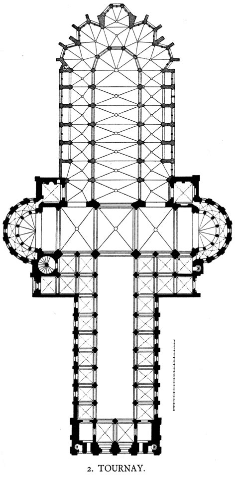 notre dame cathedral floor plan file dehio 83 tournai floor plan jpg wikimedia commons
