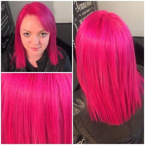 pravana magenta hair color pravana magenta and neon pink mixed together