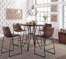 centiar dining room centiar two tone brown round counter height dining room