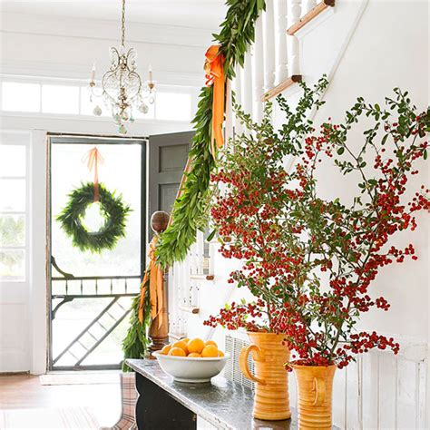 christmas home decorating ideas with garlands and swags