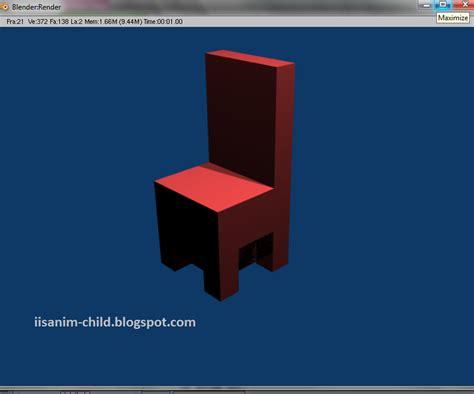 tutorial membuat tempat tidur dari blender tutorial blender 2 49 membuat kursi iisanim child