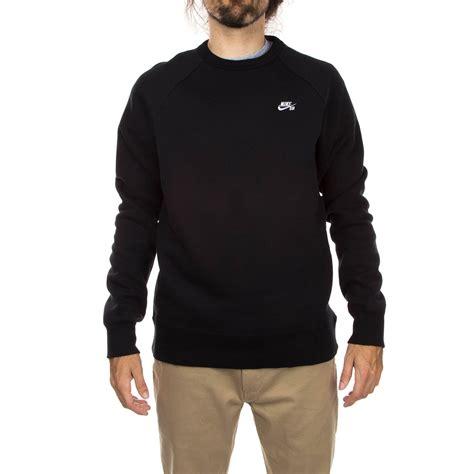 Sweater Nike Sb nike sb icon crew fleece sweatshirt black white