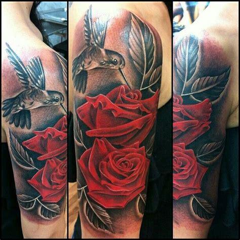 aztec rose tattoo hummingbird roses inkgasm piercings