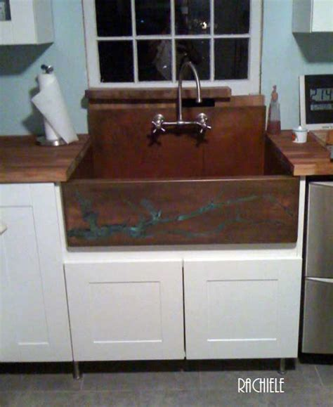 kitchen sinks with backsplash copper sinks with integral back splashes by rachiele