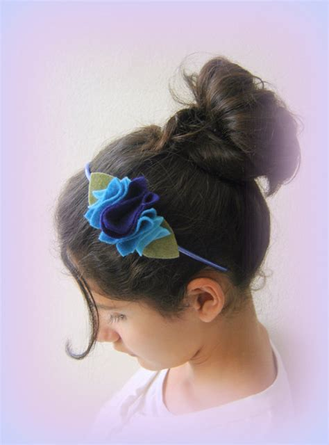 Hairband Blue Flower Kha37988 Svyq blue headband blue handmade hairband blue flower hairband