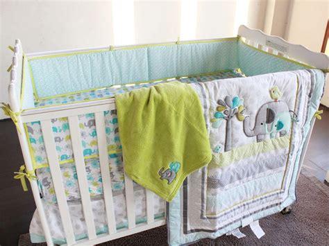 green elephant crib bedding ligth green elephants baby boy crib bedding set