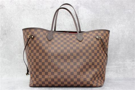 Lv Neverfull Medium Set Dompet louis vuitton damier ebene neverfull gm at s consignment