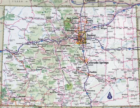 detailed map of colorado usa large detailed roads and highways map of colorado state