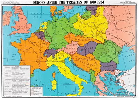 europe map 1919 europe after the treaties of 1919 1924 history map