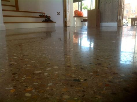homes that use a concrete finish to achieve beautiful results finishing concrete floors staining concrete floors image