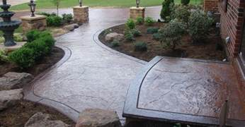 concrete sidewalk design decorative options for a
