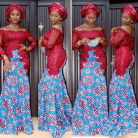 latest ankara mixed with velvet 2015 lovely ankara style mixed with lace debonke house of fashion
