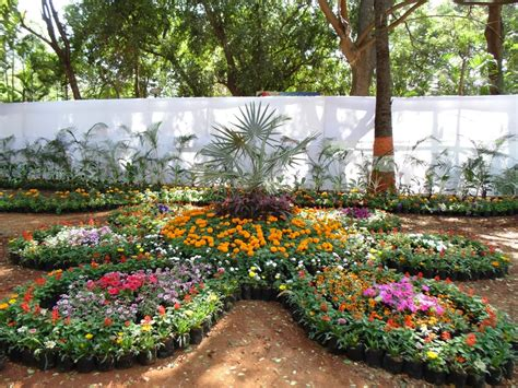 Indian Flower Garden Design Green India A Visit To Annual Flower Show Buds N Blooms At Empress Botanical Garden