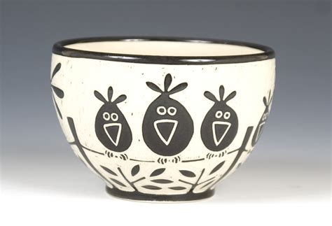 Large Ceramic L by Birds On A Wire Bowl By Falter Ceramic Bowl