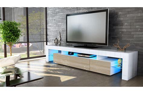 banc tv fly meuble tv design laqu 233 blanc novomeuble