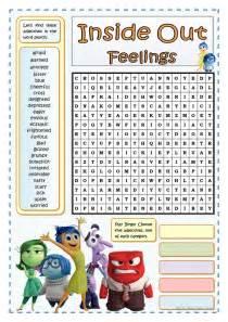 Word Sleuth Template by Inside Out Feelings Wordsearch Worksheet Free Esl