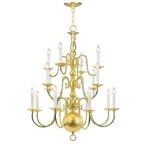 Livex Lighting 8 Light Polished Brass Chandelier 5016 02 Polished Brass Chandeliers