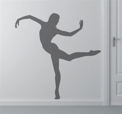 Contemporary Dancer Silhouette Sticker   TenStickers