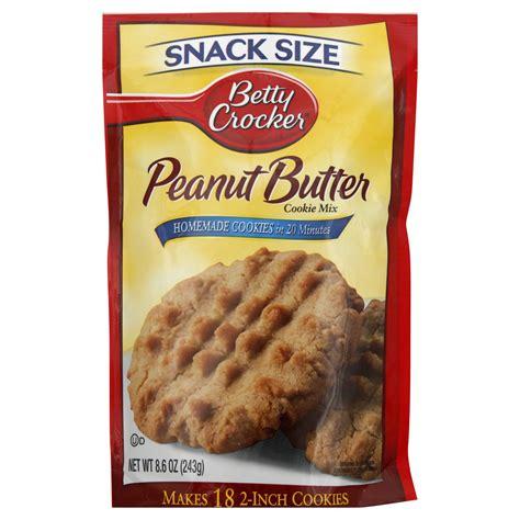 betty crocker cookies betty crocker cookie mix peanut butter snack size 8 60 oz