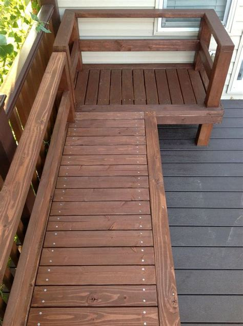 build deck bench 11 super cool diy backyard furniture projects the garden